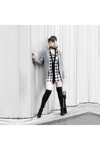 DealSale jacket - Zara boots - checkered Primark shirt