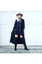 Primark boots - Zara dress - Primark coat - Zara hat