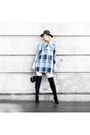 Checkered-primark-dress-zara-boots-wool-primark-hat