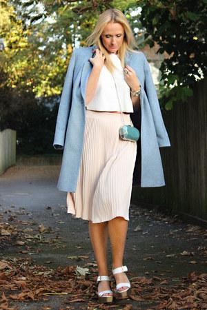 Zara sandals - Clements Ribeiro coat - H&M bag - Zara skirt - Zara top