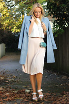 Zara sandals - Clements Ribeiro coat - H&M bag - Zara skirt - Zara top
