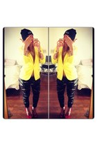 yellow New Yorker blazer