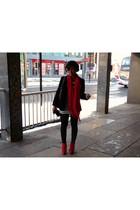 Topshop shoes - Primark leggings - H&M dress - vintage blazer - H&M accessories