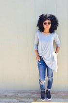 Forever 21 sunglasses - JCPenney jeans - GoJane flats - Forever 21 top