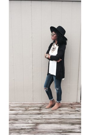 H&M necklace - Target boots - JCPenney jeans - Forever 21 hat