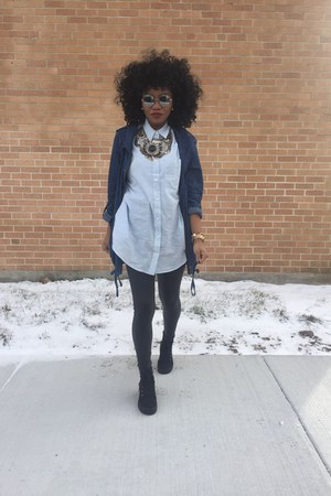 boots - jacket - leggings - Forever 21 top