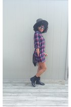 Forever 21 boots - Forever 21 dress - Forever 21 hat - hm purse