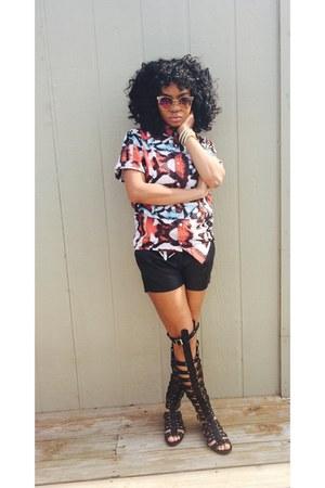 Forever 21 shirt - H&M shorts - GoJane sandals - Michael Kors watch