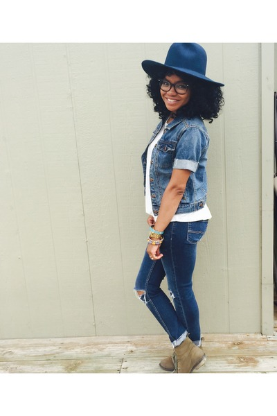 Forever 21 hat - Forever 21 boots - JCPenney jeans - Gap jacket