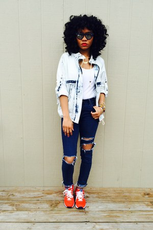 Forever 21 jeans - Forever 21 jacket - cotton on top - New Balance sneakers