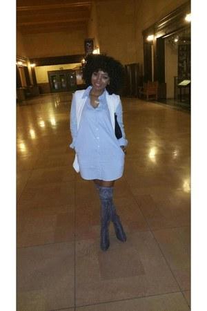 Forever 21 dress - Forever 21 bag - Forever 21 vest - Forever 21 heels