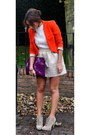 Zara-skirt-vintage-from-ebay-boots-zara-blazer-mulberry-bag