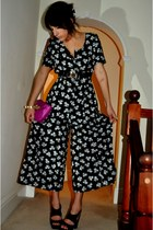 Fiorelli bag - Topshop heels - vintage romper - Topshop belt