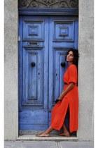 Zara dress - vintage from Ebay flats - vintage watch - vintage belt