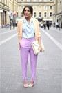 Paris-shirt-h-m-trend-blazer-h-m-trend-pants-ebay-heels