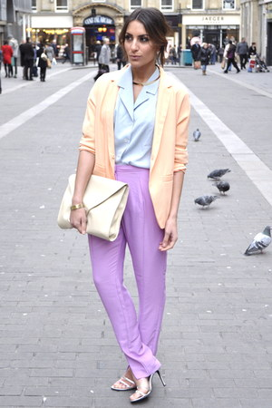 H&amp;M Trend blazer - Paris shirt - H&amp;M Trend pants - Ebay heels