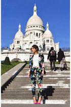 H&M Trend suit - Chanel bag - dune heels - Zara top