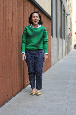 green striped francescas sweater - Lands End shirt