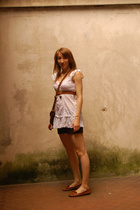 Promod shirt - Zara shorts - frau shoes - H&M purse