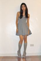 gray Topshop dress - gray Oro Nero shoes - silver Forever 21 accessories