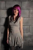 heather gray Camden Market dress - charcoal gray Primark tights