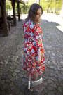 Red-h-m-dress-silver-parfois-bag