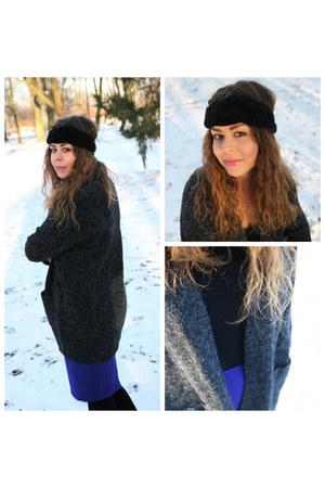 charcoal gray Bershka sweater - black Promod accessories