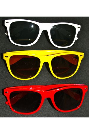 white magalic etsy sunglasses - yellow magalic etsy sunglasses - red magalic ets