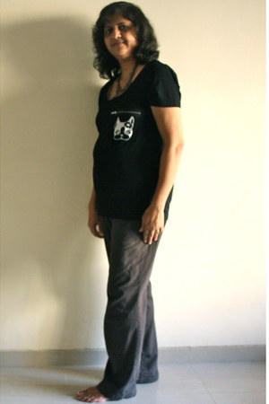 black Kmart blouse - gray St Johns Bay pants - black Blend Fashion Accessories n