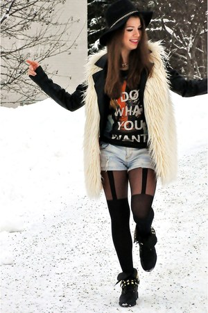 aloha from deer vest - H&M boots