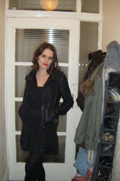 Topshop jacket - H&M dress - Marks and Spencers tights - Revlon