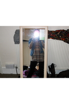 DIY shirt - Beyond Retro dress - Topshop leggings - Topshop shoes