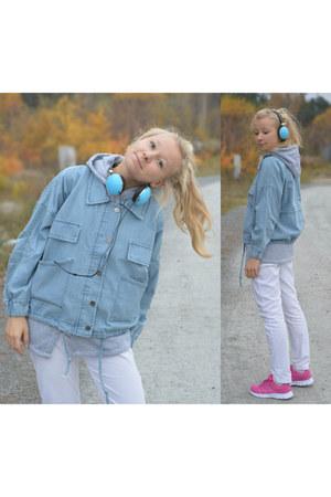 sky blue jeans hoodie