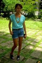 random accessories - random from Bangkok top - shorts - Ilaya Couture shoes - sm