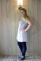 kohls dress - Target tights - Steve Madden shoes - DIY top