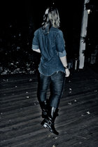 Wrangler top - Levis jeans - Frye boots