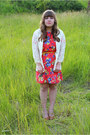 Floral-ruche-dress-lace-ruche-blazer