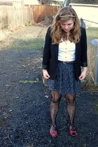 Silence&Noise blazer - Aeropostale belt - Urban Outfitters tights - oldnavy shir