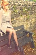 silver paris btq dress - black Aldo boots - black Topshop tights