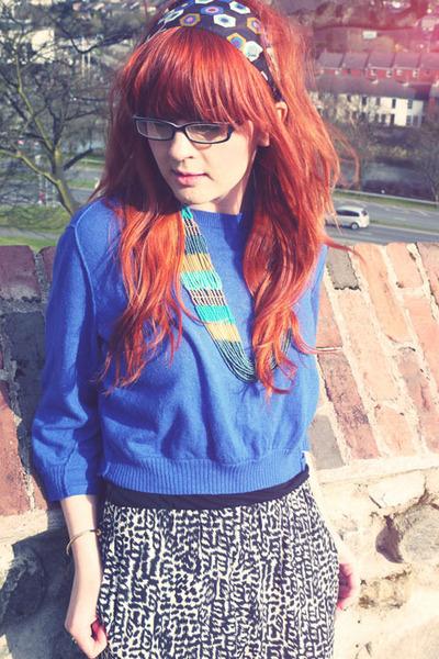 blue asos jumper - black H&M pants