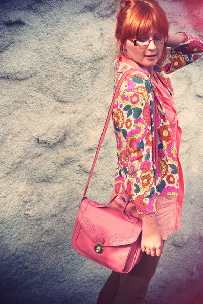 Topshop bag - M&S leggings - River Island blazer - new look shirt