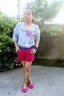 Hot-pink-solemate-shorts-hot-pink-shorts