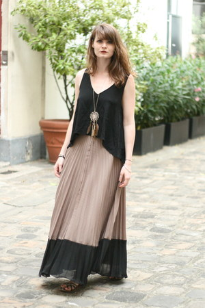 tan Rene Derhy skirt
