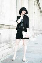 black cinelle boutique jacket - silver cinelle boutique sandals