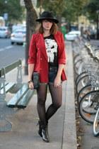ruby red vintage vest