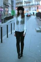 black Exclusif chaussures boots - dark khaki Derhy vest