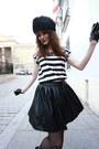 Ruby-red-persunmall-coat-black-persunmall-skirt