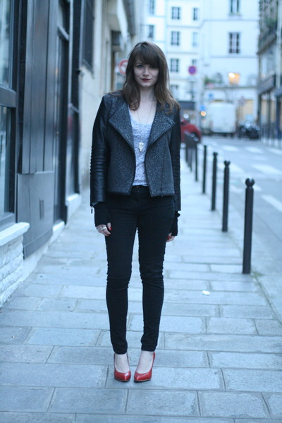 charcoal gray Brighton jacket
