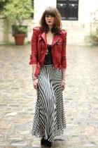 gray Rene Derhy skirt