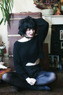 Black-zaful-sweater